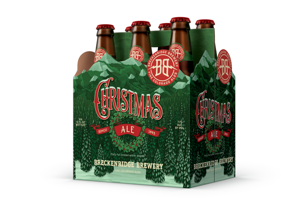 Christmas Ale 6 Pack Bottle Render