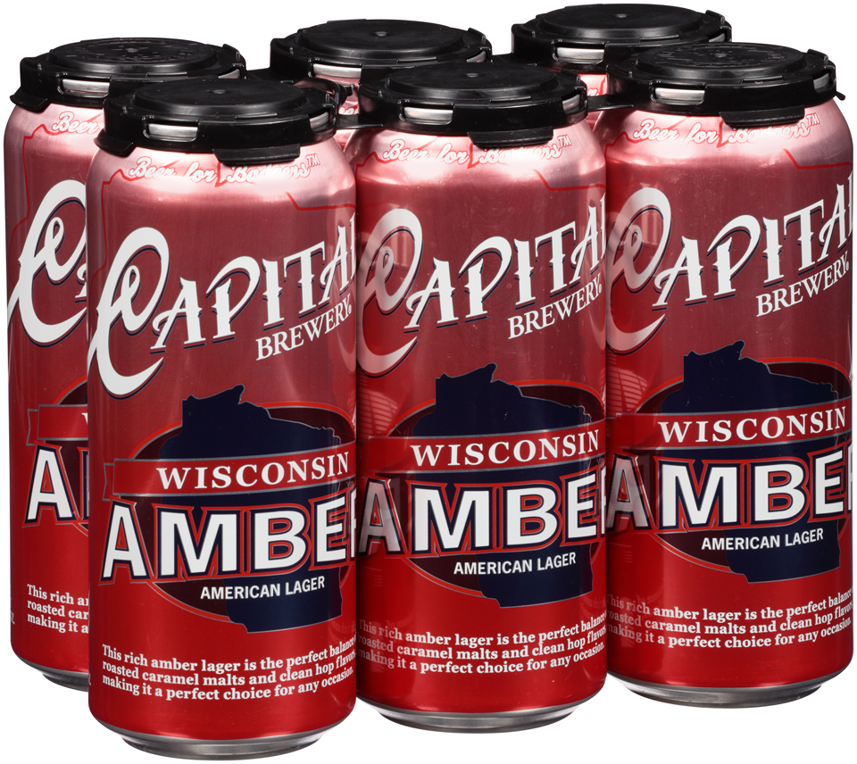 Wisconsin Amber 6pk Cans