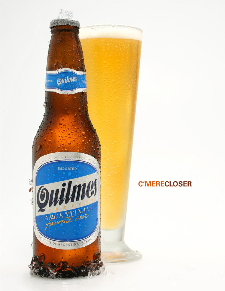 Quilmes Bottle and Glass