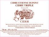 Cidre Etienne Dupont Cidre Tripel Label Page 1 Image 0001