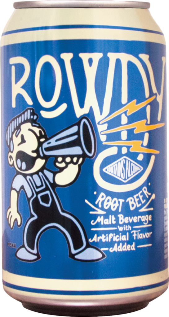 Rowdy Root Beer Can