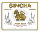 Singha lager label