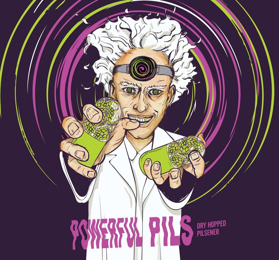 Can Art Powerful Pils label