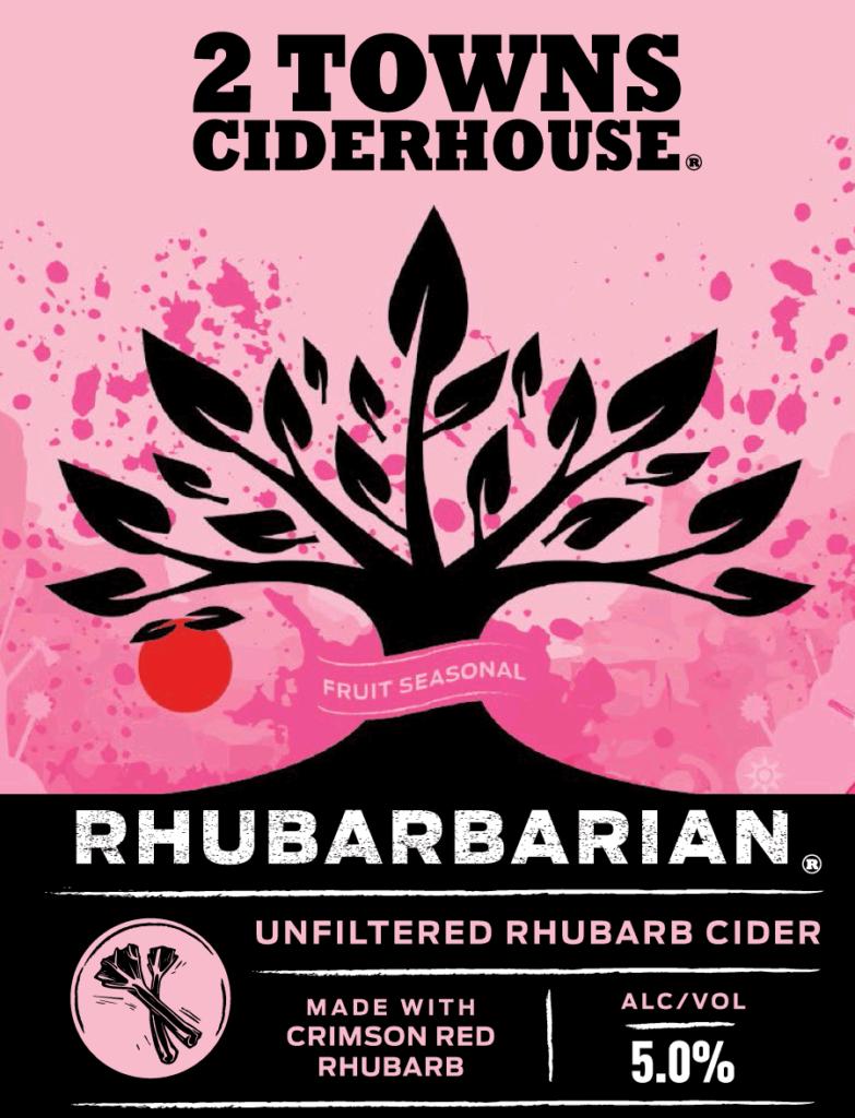 2TownsCiderhouse Rhubarbarian label