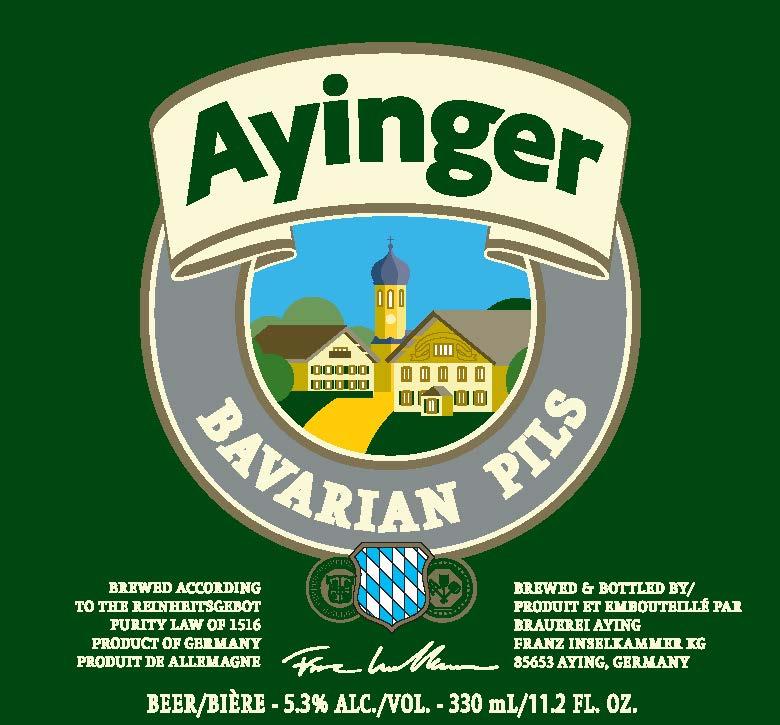 ayinger bavarian pils 330ml frontlabel
