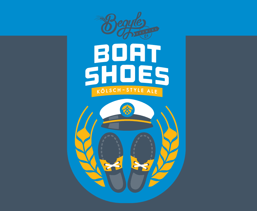 BEGYLE Boat Shoes label