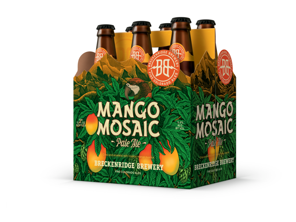 Mango Mosaic Pale Ale 6 Pack Bottle Render