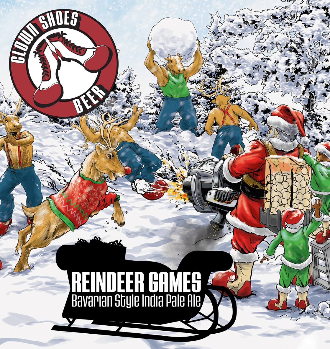 Reindeer games 16oz crop
