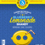 Blueberry Lemonade Shandy label