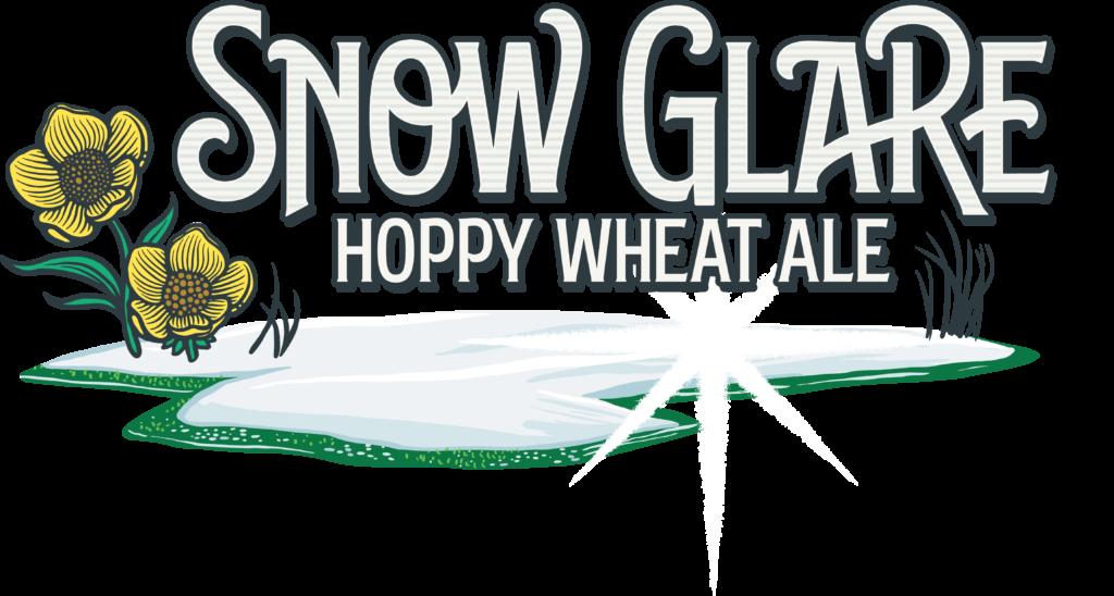 Snow Glare Hoppy Wheat Ale Logo