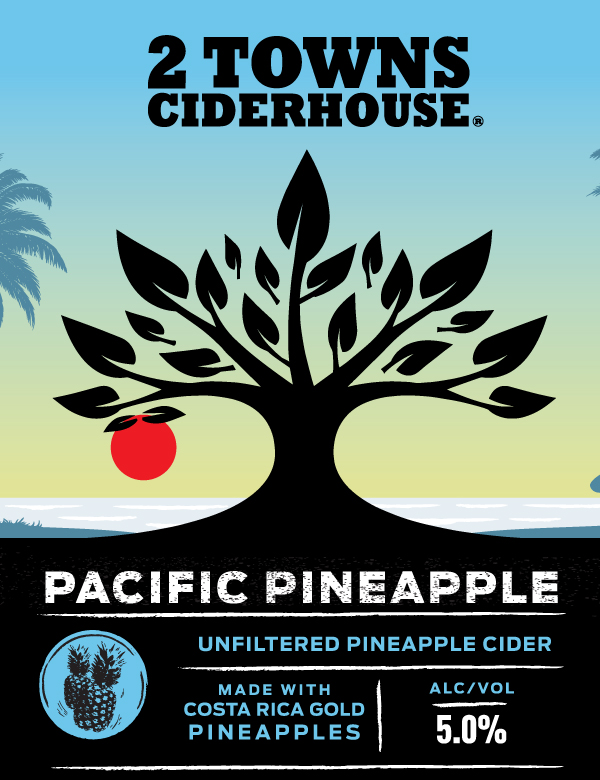 pacific pineapple label