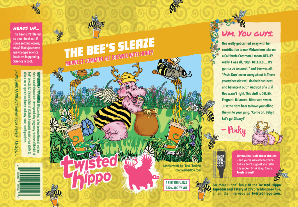 Bees Sleaze Can Sleeve